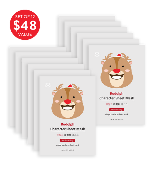 Rudolph Character Sheet Mask (Set of 12) - SkincarePharm
