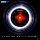 2001 A Space Odyssey HAL 9000 Canvas Print, By CrownosArts