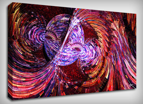 Magnetic Madness Canvas Print, By CrownosArts