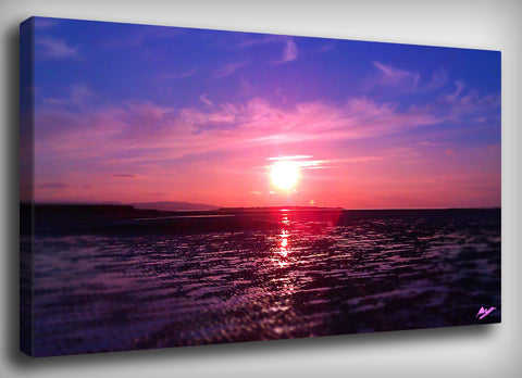 Pink Sunset Canvas Print, By CrownosArts