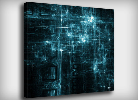 Quantum Connections Canvas Print, By CrownosArts