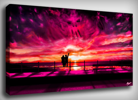 Surreal Sunset Canvas Print, By CrownosArts