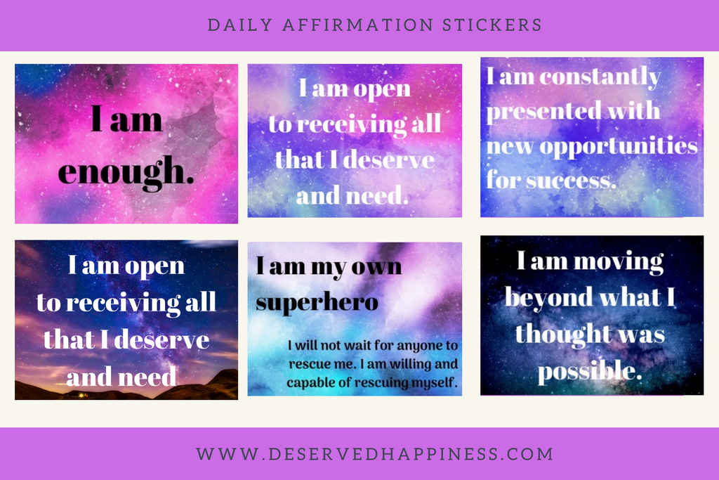 Daily Affirmation Sticker sheets