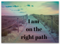 I Am On The Right Path Holographic Sticker
