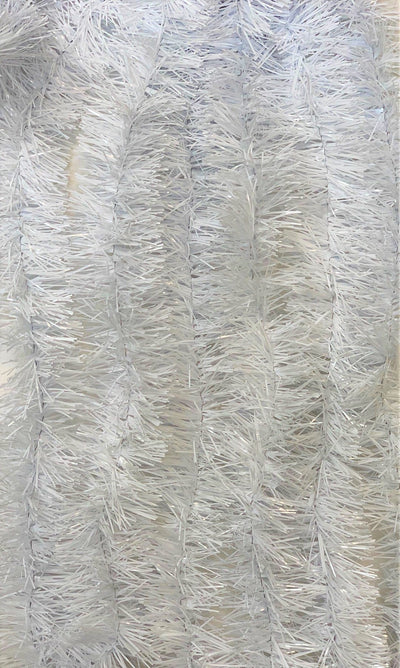 Tinsel Garland White Holiday Décor 15 Feet