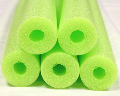 FixFind Bright Lime Green 52 Inch Pool Swim Noodle 5 Pack