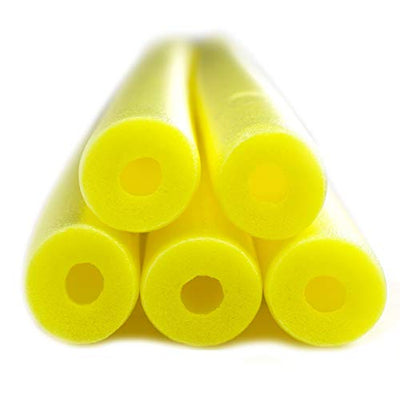 FixFind Bright Yellow 52 Inch Pool Swim Noodle 5 Pack