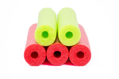 FixFind Red and Lime Green 52 Inch Pool Swim Noodle 5 Pack