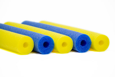 FixFind Blue and Yellow 52 Inch Pool Swim Noodle 5 Pack