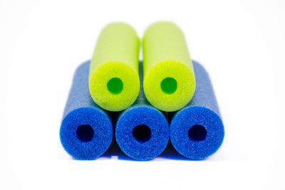 FixFind Blue and Lime Green 52 Inch Pool Swim Noodle 5 Pack