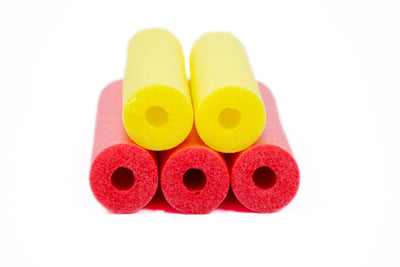 FixFind Red and Yellow 52 Inch Pool Swim Noodle 5 Pack