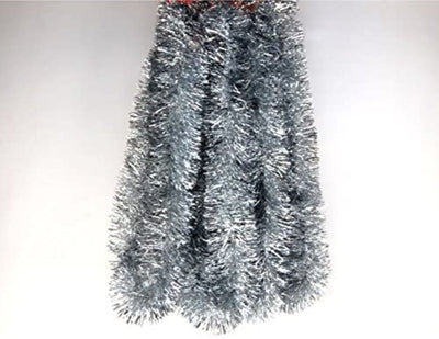 Tinsel Garland Silver Holiday Décor 18 Feet