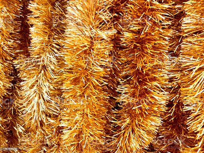 Tinsel Garland Gold Holiday Décor