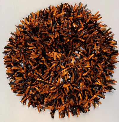 Black and Orange Iridescent Halloween Tinsel Garland Party Decor 15 Feet