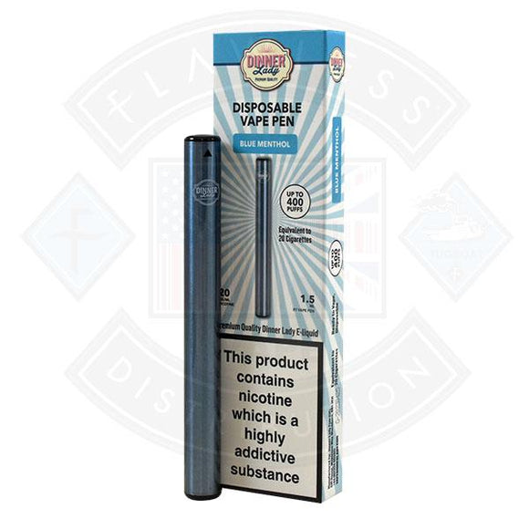 Dinner Lady Vape Pen Blue Menthol 20mg 1.5ml