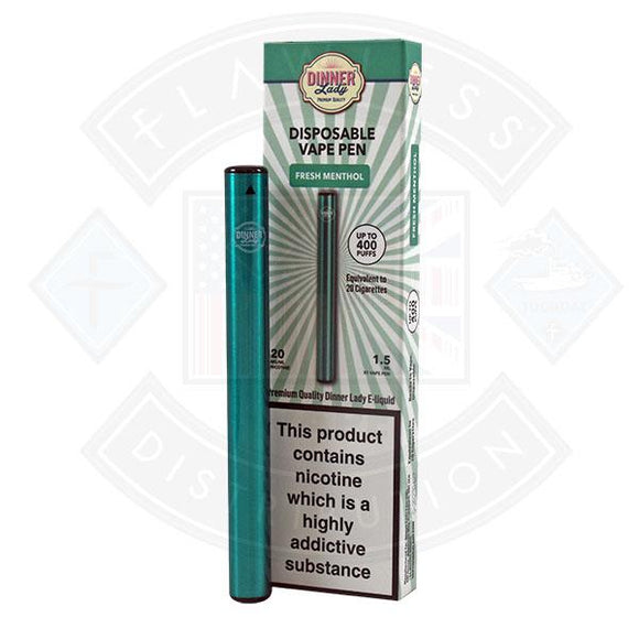 Dinner Lady Vape Pen Fresh Menthol 20mg 1.5ml