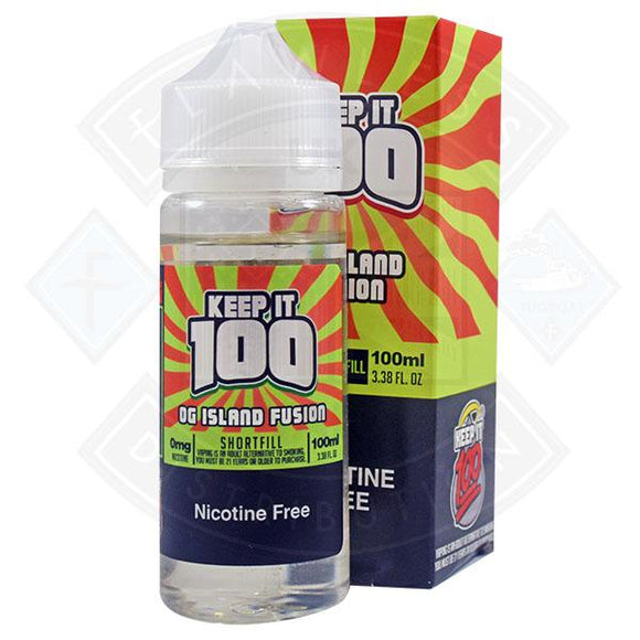Keep It 100- OG Island Fusion 0mg 100ml Shortfill