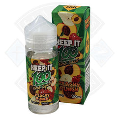 KEEP IT 100 - PEACHY PUNCH  SHORTFILL E-LIQUID