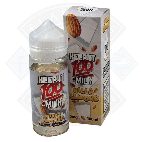 KEEP IT 100 - NILLA ALMOND 0MG 100ML SHORTFILL E-LIQUID