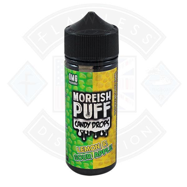 Moreish Puff Candy Drops Lemon & Sour Apple 0mg 100ml Shortfill E-liquid