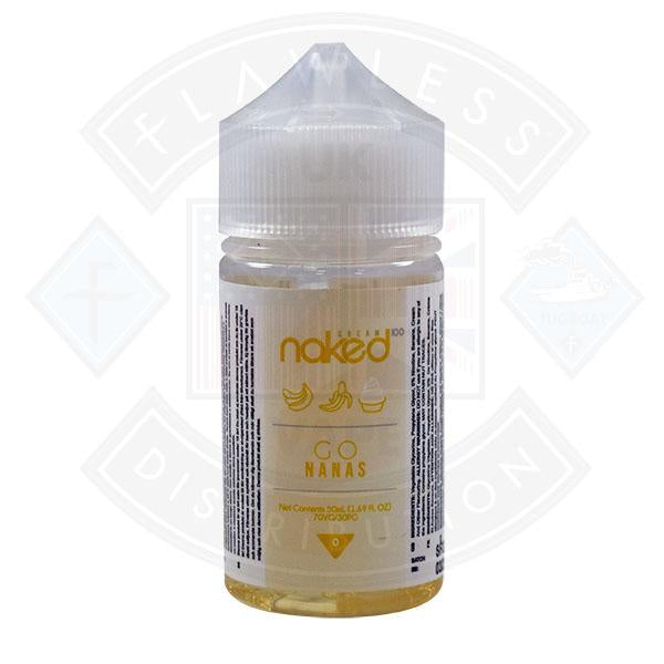 Naked - Go Nanas 0mg 50ml Shortfills