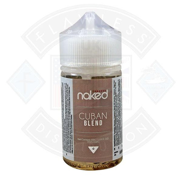 Naked - Cuban Blend 0mg 50ml Shortfills