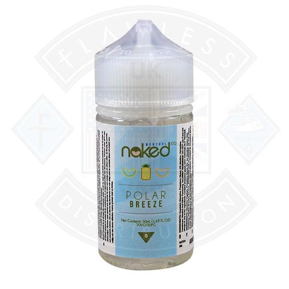 Naked - Polar Breeze 0mg 50ml Shortfill E liquid