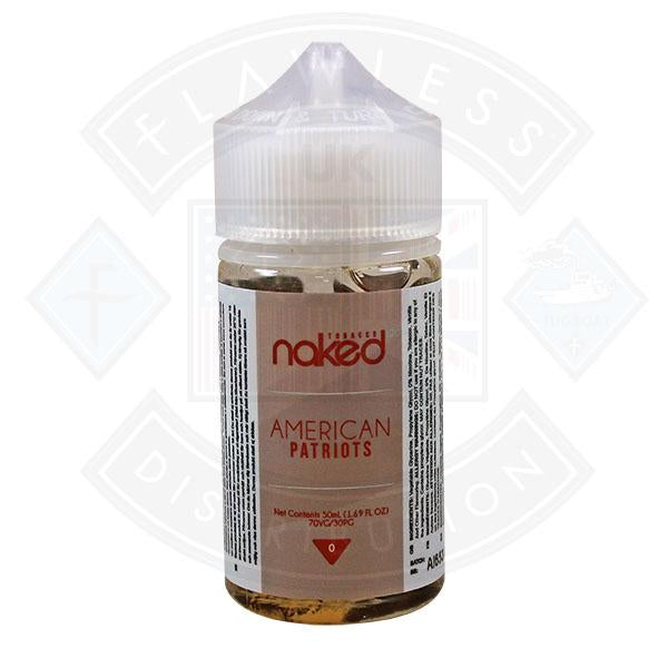Naked - American Patriots 0mg 50ml Shortfills