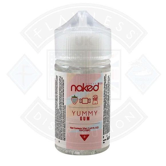 Naked - Yummy Gum 0mg 50ml Shortfills