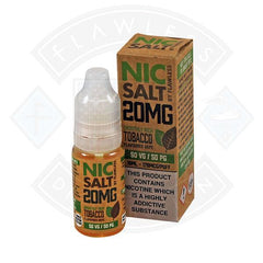 NIC SALT - SMOOTHLY RICH TOBACCO 20MG 10ML SHORTFILL E-LIQUID