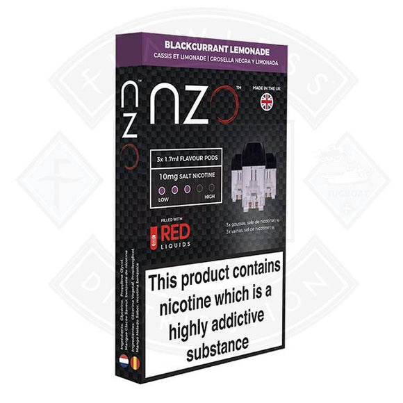 NZO Pod (filled with Red Liquids) Blackcurrant Lemonade 10mg 1.7ml 3pcs