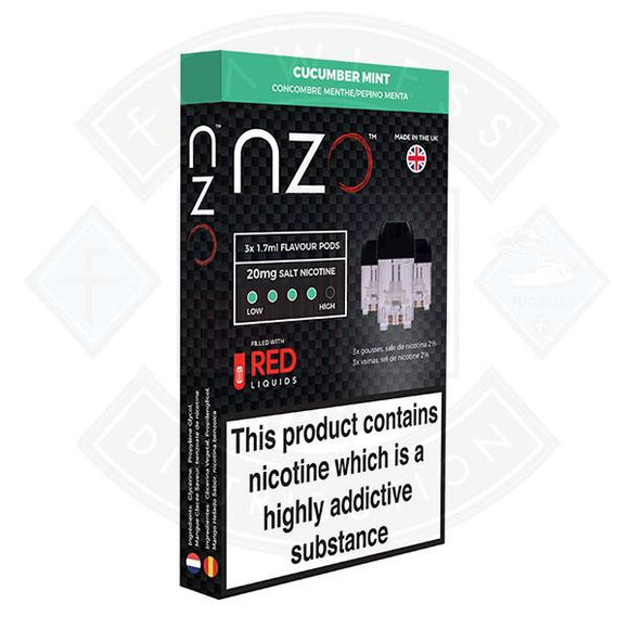 NZO Pod (filled with Red Liquids) Cucumber Mint 20mg 1.7ml 3pcs