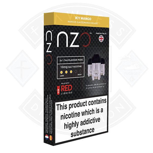 NZO Pod (filled with Red Liquids) Icy Mango 10mg 1.7ml 3pcs