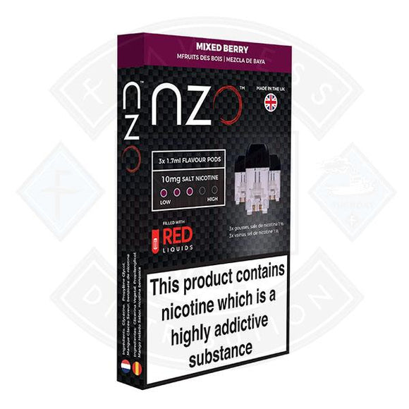 NZO Pod (filled with Red Liquids) Mixed Berry 10mg 1.7ml 3pcs