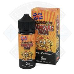 Pancake Man Tooty Frooty 0mg 100ml Short fill E liquid