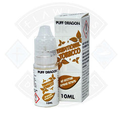 Traditional Tobacco by Puff Dragon TPD Compliant 0mg 10ml E liquid