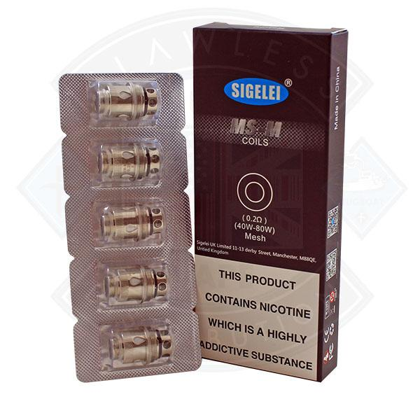 Sigelei MS-M Coil Mesh 5 Pack 0.2 Ohms