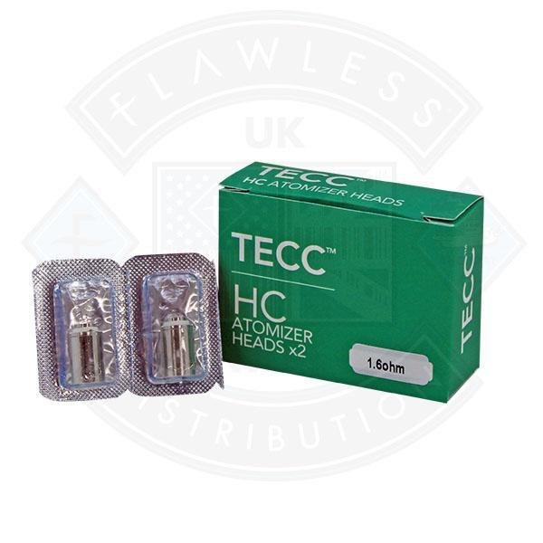 Tecc HC Atomizer Heads 1.6 OHM 2 pack