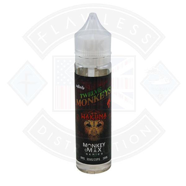TWELVE MONKEYS - HAKUNA 0MG 50ML SHORTFILL E-LIQUID