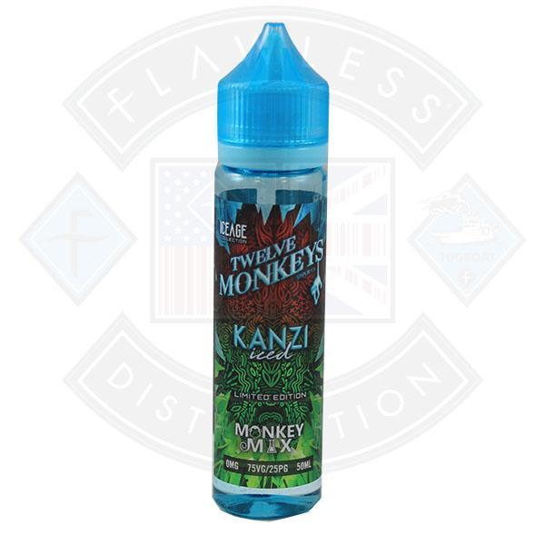 Twelve Monkeys - Kanzi Iced 0mg 50ml Shortfill e-liquid