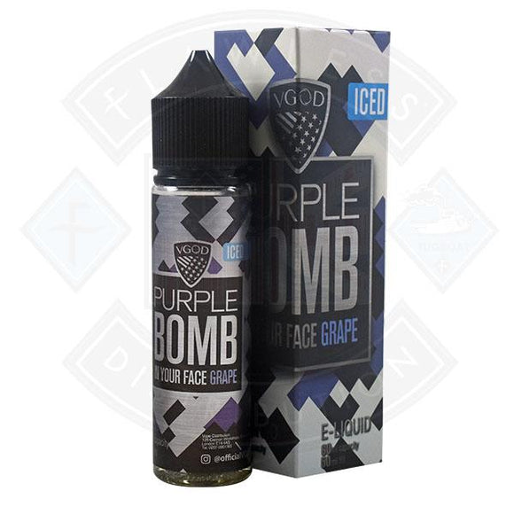 VGOD Iced Bomb - Purple Bomb In Your Face Grape 0mg 50ml Shortfill