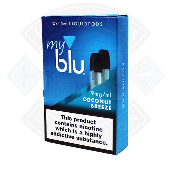 My Blu Liquid Coconut Breeze PODS 1.5ml 2packs