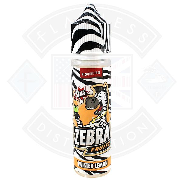 Zebra Fruitz - Twisted Lemon  0mg 50ml Shortfill