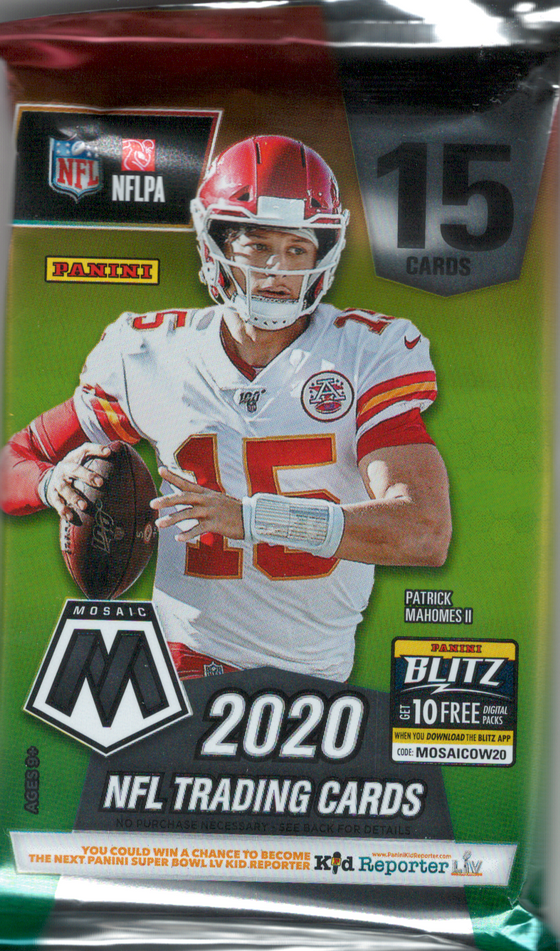 2020 Mosaic Football Hobby Pack (Hit Odds 1:5)