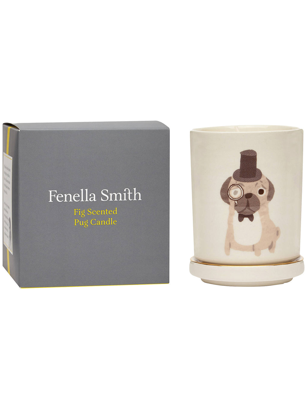 Fenella Smith Pug Candle