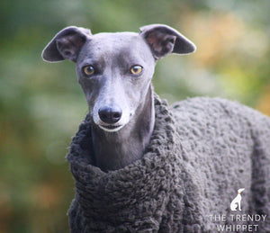 The Trendy Whippet Khaki Fluffy Fleece Whippet Jumper