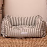 Mutts and Hounds Flint Stripe Brushed Cotton Boxy Dog Bed