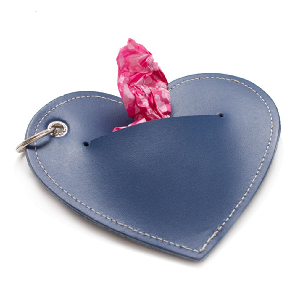 Hiro and Wolf Heart Poo Pouch Navy
