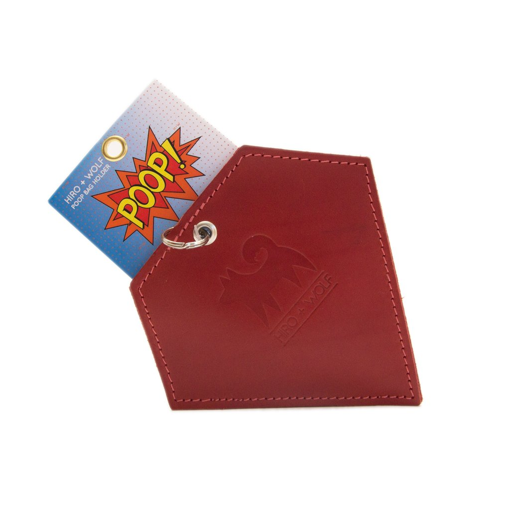 Hiro and Wolf Diamond Poo Pouch Cardinal Red