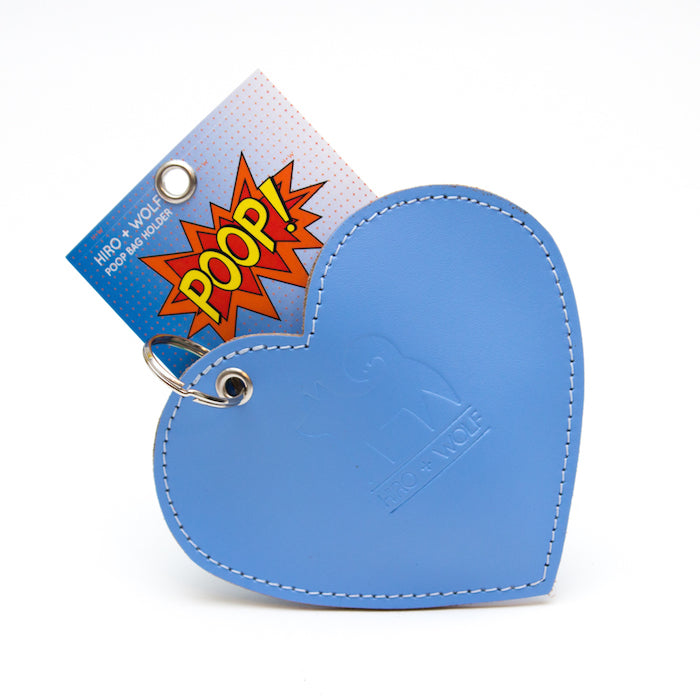 Hiro and Wolf Heart Poo Pouch Light Blue